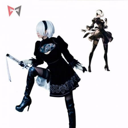 Athemis NieR Automata Cosplay Costumes YoRHa No. 2 Type B cosplay costume 2B set custom made size