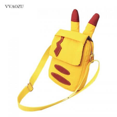 Cartoon Pocket Monster Pokemon Pikachu Messenger Crossbody Bags Women Mini Handbags Shoulder Bag for Girls with Cute Ears Tail 1