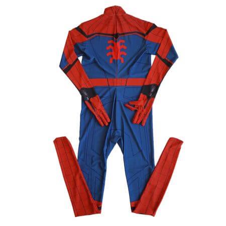 Movie Spider-Man Homecoming Costume Adult Spiderman Cosplay Costume Halloween Cool Superhero Spandex Zentai Suit Aubalee 2