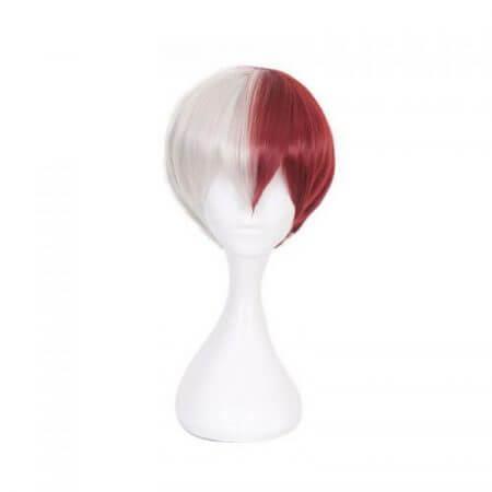 My Hero Academia Boku no Hiro Akademia Shoto Todoroki Shouto White And Red Head Costume Cosplay Wig Accessories 5