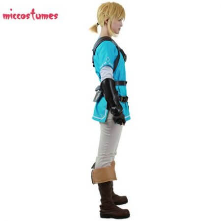 Link Cosplay Costume Male Outfit Cloak The Legend of Zelda: Breath of the Wild 2