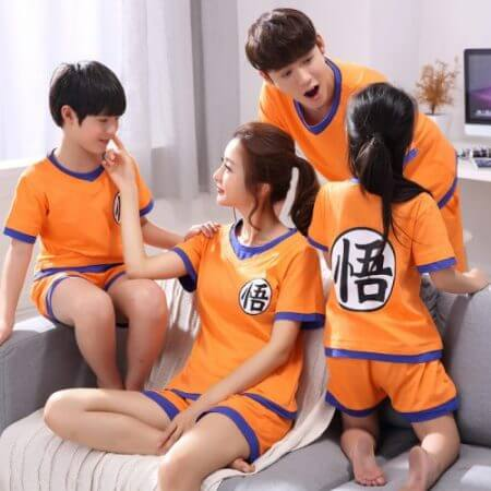 Dragon Ball Z Goku Homewear Family Matching Lover Couple Anime Cosplay Casual T Shirt Shorts Suit Set 2019 Adult Home Wear 1