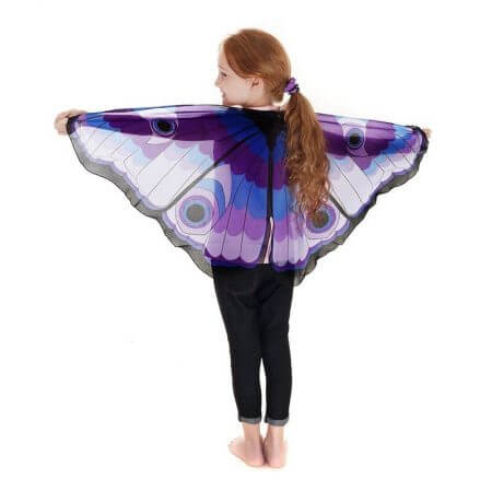 Fairy tale princess cosplay costume Butterfly Wings Shawl Cape Stole Kids Boys Girls Scarf Wrap accessories 5