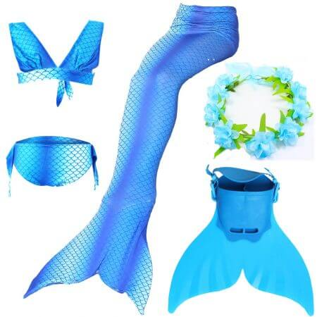 Swimmable Children Mermaid Tails With Monofin Fin Bikinis Set Girls Kids Swimsuit Mermaid Tail Cosplay Costume for Girl Swimming 2