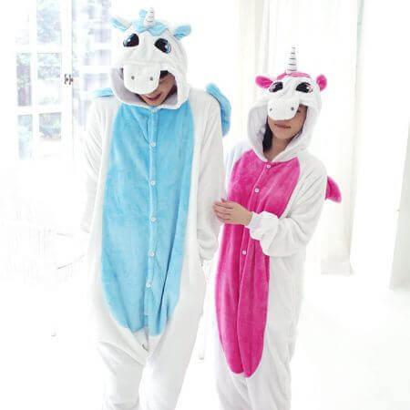 Women Men Kigurumi Unicorn Pajamas cat 2