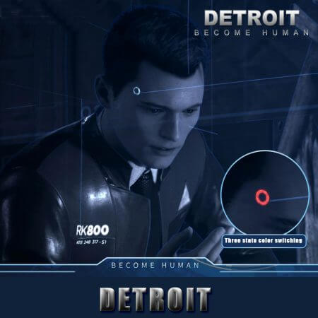 Detroit: Become Human Ring Circle Head LED Props Cosplay Connor RK800 Wireless Temple LED Light Kara State Scintillation Lamp 2