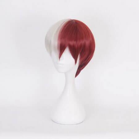 My Hero Academia Boku no Hiro Akademia Shoto Todoroki Shouto White And Red Head Costume Cosplay Wig Accessories 3