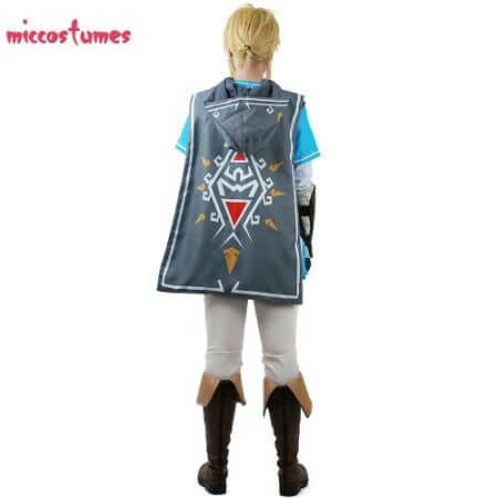 Link Cosplay Costume Male Outfit Cloak The Legend of Zelda: Breath of the Wild 4