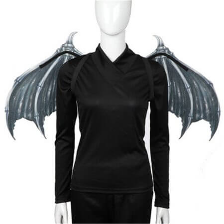 Cosplay adult children halloween carnival purim costume prop demon wings mask dragon bat wings for performance props J6 4