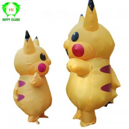 Inflatable Pikachu Costumes Halloween Cosplay Large Pokemon Mascot Costume for Kids Adults Men Women Party Inflatable Costume 1