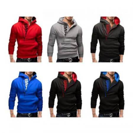 Assassins Creed Hoodies Men Fashion Brand Zipper Letter Print Sweatshirt hip hop tracksuit Hooded Jacket streetwear black Hoodie 1
