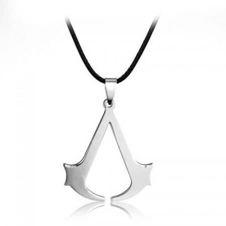 Assassins Creed Ezio Titanium Necklace Multicolor Stainless Steel Pendant Necklace 3