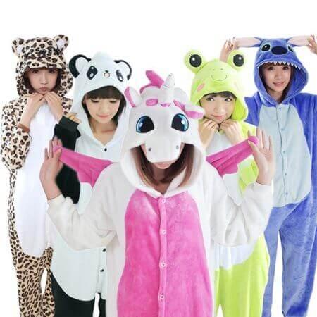Women Men Kigurumi Unicorn Pajamas cat 1