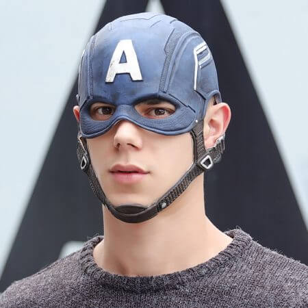 Movie Captain America 3 Civil War Captain America Mask Cosplay Steven Rogers Superhero Latex Helmet Halloween For Men Party Prop 2