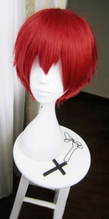 Assassination Classroom Karma Akabane / Akashi Seijuro / Sasori Short Flame Red Cosplay Wig Costume High Temperature Fiber 1