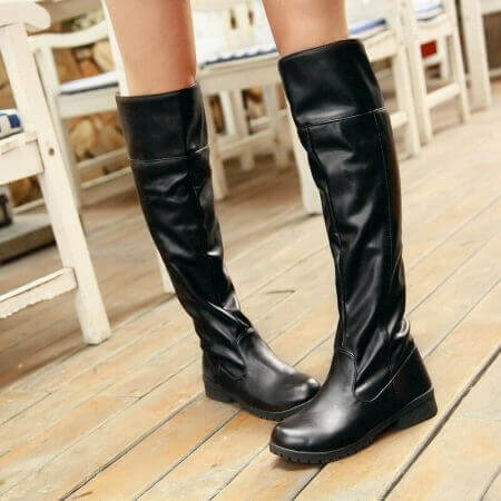 2017 women Attack on Titan cosplay long boots Shingeki no Kyojin Over-the-Knee boots Eren Jaeger Ackerman Shoes 1