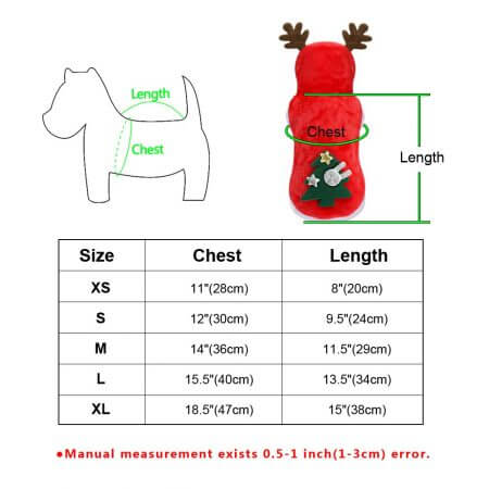 Christmas Cat Clothes Small Dogs Cats Santa Costume Kitten Puppy Outfit Hoodie Warm Pet Dog Clothes Clothing Accessories 5
