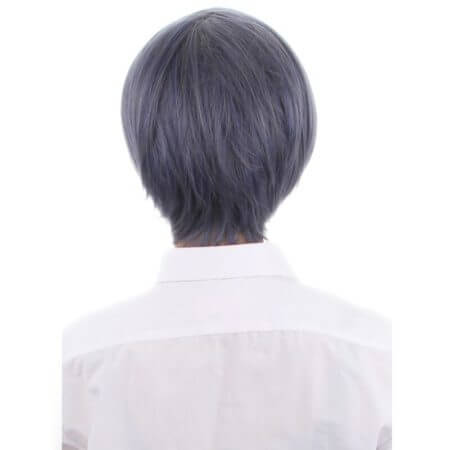 Anime Black Butler Kuroshitsuji Ciel Phantomhive Wigs Grey Blue Heat Resistant Synthetic Hair Cosplay Wig + Black Eyepatch 3