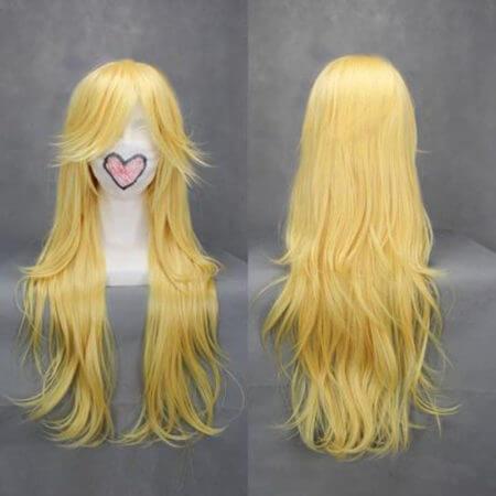 Super Mario Brothers Princess Peach Cosplay Wig Princess Toadstool Heat Resistant Synthetic Hair Long Wavy Wigs + Wig Cap