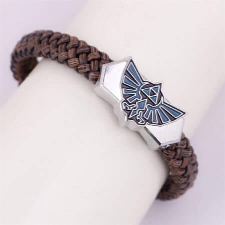 Anime The Legend of Zelda Knit Bracelet Cosplay Costumes Accessories Props Black Punk Fashion Bracelets 2