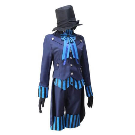 Black Butler 2 Kuroshitsuji Ciel Phantomhive Blue Boy Lolita Suit Anime Unisex Cosplay Costume Sets 2