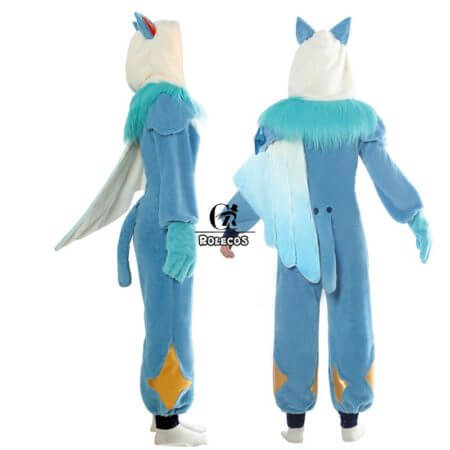 ROLECOS Game LOL Ezreal Cosplay Costume Pajama Star Guardian Ezreal Pajama Cosplay Costume for Men Jumpsuits Full Set 4