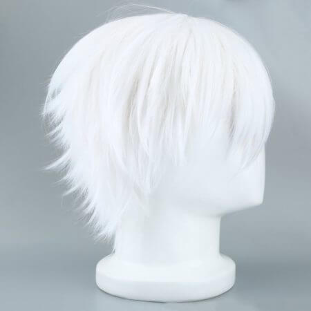 Tokyo Ghoul Cosplay Hairs Short Straight Silver Gray Color Silk Synthetic Hair Halloween Masquerade Party Costumes 2019 Fashion 2