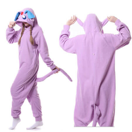 Pokemon polar fleece Onesie Adult Anime Espeon Umbreon Shiny Snorlax Cosplay Pajama Women Costume Overall Female Funny 2