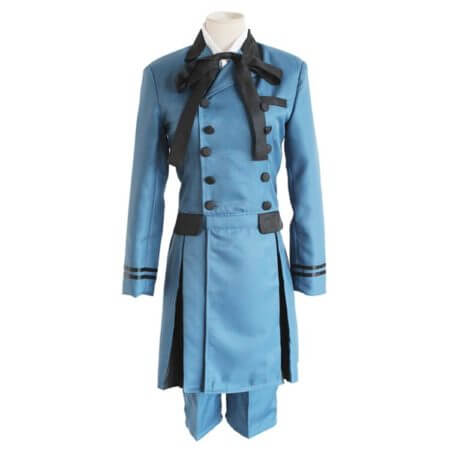 Black Butler 2 Kuroshitsuji Ciel Phantomhive Blue Boy Lolita Suit Anime Unisex Cosplay Costume Sets 1
