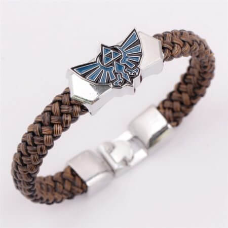 Anime The Legend of Zelda Knit Bracelet Cosplay Costumes Accessories Props Black Punk Fashion Bracelets