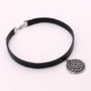 Yennefer Medallion Pendant Black Leather Choker Necklace Wizard 3 Wild Hunt Game Cosplay Gothic Necklace Women Jewelry 2