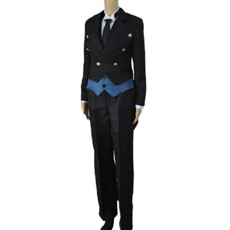 Black Butler 2 Kuroshitsuji Ciel Phantomhive Blue Boy Lolita Suit Anime Unisex Cosplay Costume Sets 3