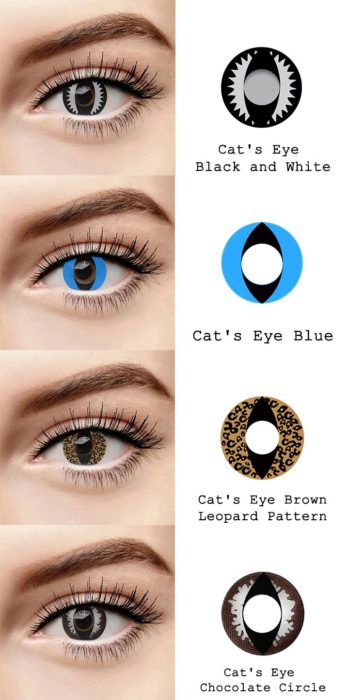 Cat's eyes contact lenses