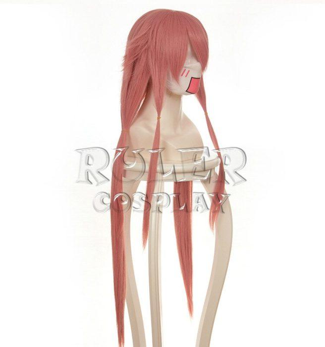 36'' 90cm Long Pink Yuno Gasai Wig The Future Diary Mirai Nikki Yuno Heat Resistant Hair Cosplay Costume Wigs + Wig Cap 3