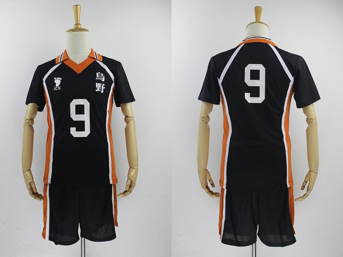 KIGUCOS 9 Styles Hot Anime Karasuno High School Sportwear Haikyuu!! Hinata Shyouy Cosplay Costumes Outfit Jerseys Uniform 19