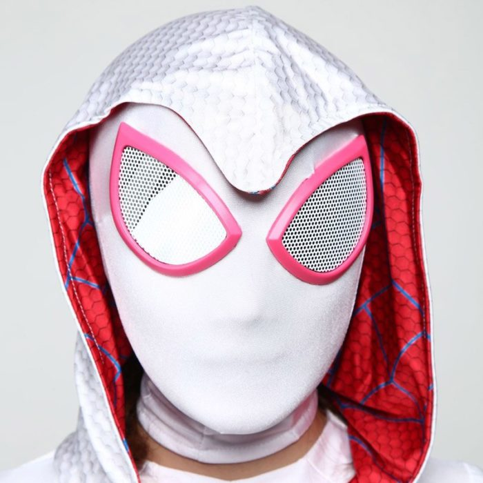 DIOCOS Spider Gwen Stacy Cosplay Costumes 3D Print Adult Kids Jumpsuits for Halloween Party 4