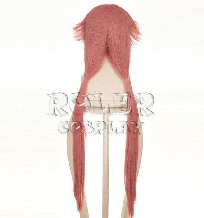 36'' 90cm Long Pink Yuno Gasai Wig The Future Diary Mirai Nikki Yuno Heat Resistant Hair Cosplay Costume Wigs + Wig Cap 4
