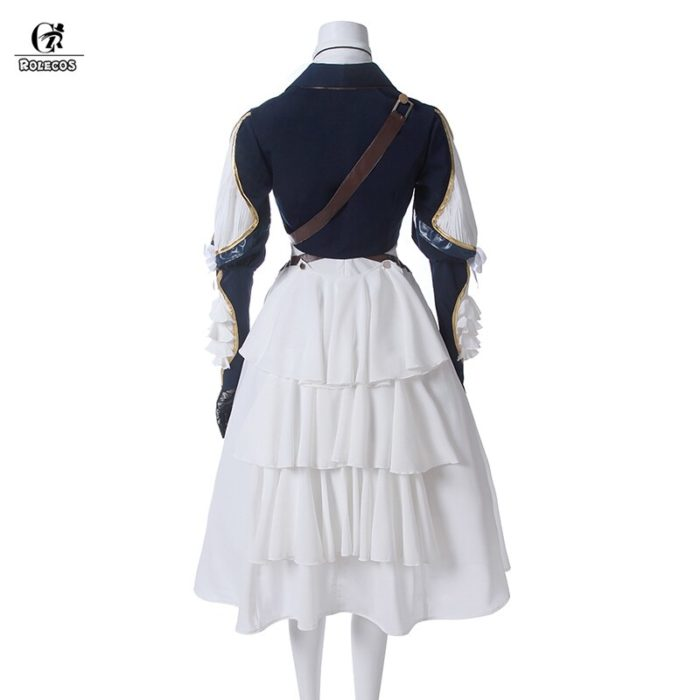 ROLECOS Violet Evergarden Cosplay Costume Anime Cosplay Violet Evergarden Costume for Women Halloween ( Top + Dress + Gloves ) 3