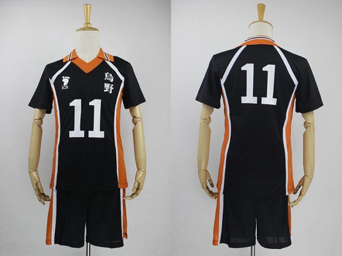 KIGUCOS 9 Styles Hot Anime Karasuno High School Sportwear Haikyuu!! Hinata Shyouy Cosplay Costumes Outfit Jerseys Uniform 7