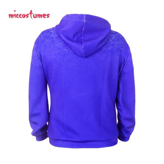 Jack Frost Hoodie Cosplay Costume Jacket Sweatshirt Men Halloween Outfit 3