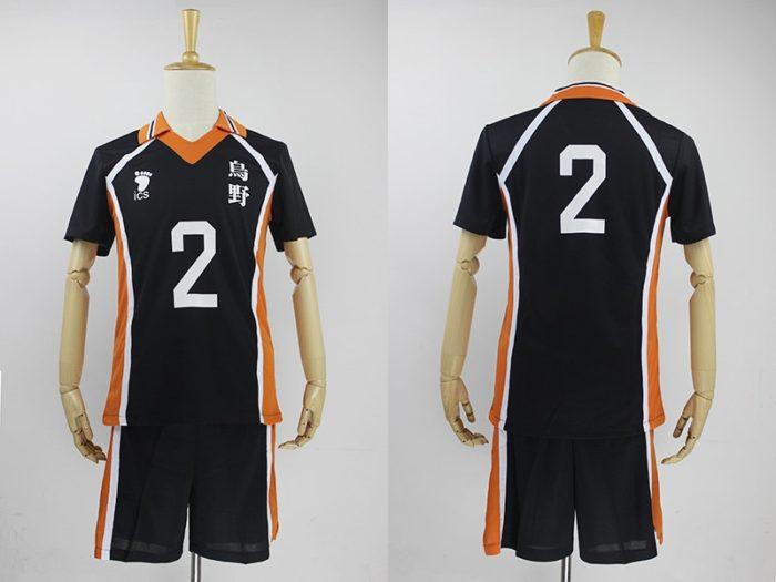 KIGUCOS 9 Styles Hot Anime Karasuno High School Sportwear Haikyuu!! Hinata Shyouy Cosplay Costumes Outfit Jerseys Uniform 10