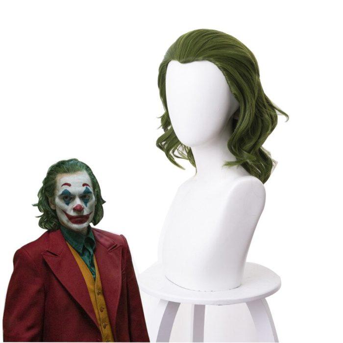 Joker Wig Movie Pennywise Joaquin Phoenix Arthur Fleck Clown Batman Cosplay Curly Green Synthetic Hair Wig with Free Wig Cap 3