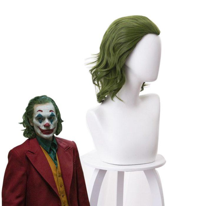 Joker Wig Movie Pennywise Joaquin Phoenix Arthur Fleck Clown Batman Cosplay Curly Green Synthetic Hair Wig with Free Wig Cap 2