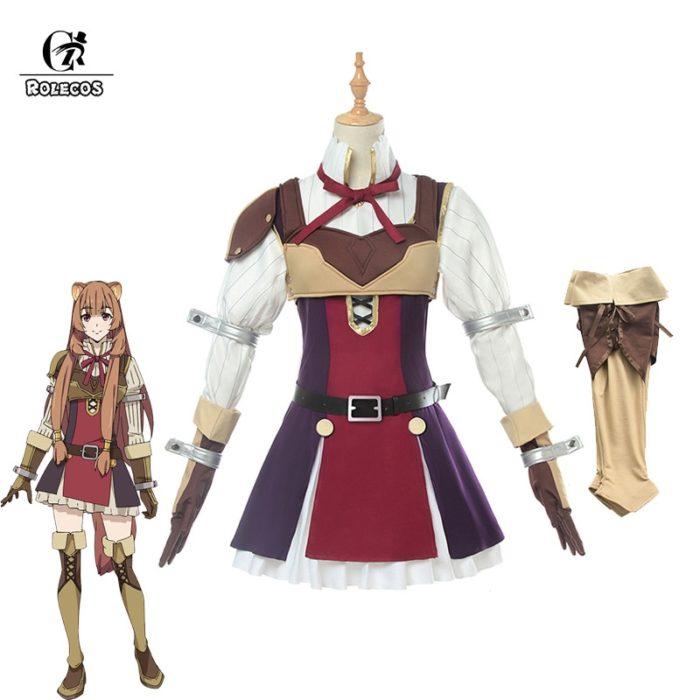 ROLECOS Anime Tate no Yuusha no Nariagari Cosplay Costumes Raphtalia Costume for Women Cosplay Costume Full Sets 1