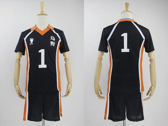 KIGUCOS 9 Styles Hot Anime Karasuno High School Sportwear Haikyuu!! Hinata Shyouy Cosplay Costumes Outfit Jerseys Uniform 11