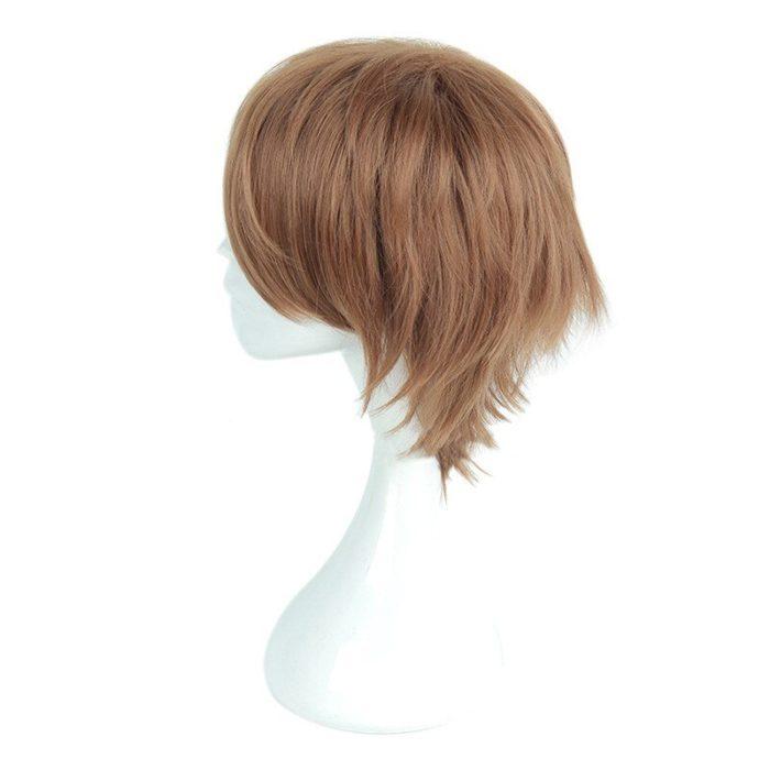 Anime Death Note Yagami Light Cos Wig Short Brown Heat Resistant Hair Pelucas Cosplay Costume Wigs + Wig Cap 3