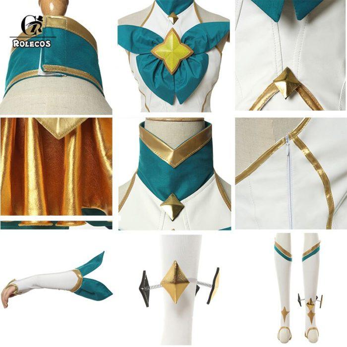 ROLECOS Game LOL Neeko Cosplay Costume Star Guardian Neeko Cosplay Costumes Suit Women Sexy Dress Halloween Uniform Full Set 5
