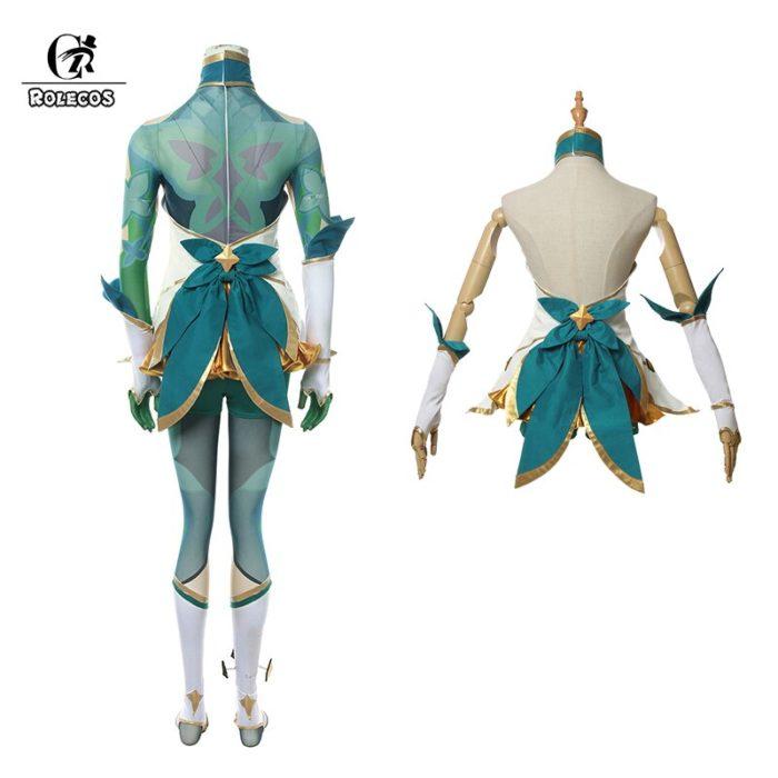 ROLECOS Game LOL Neeko Cosplay Costume Star Guardian Neeko Cosplay Costumes Suit Women Sexy Dress Halloween Uniform Full Set 4