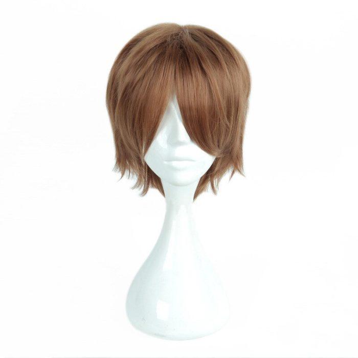 Anime Death Note Yagami Light Cos Wig Short Brown Heat Resistant Hair Pelucas Cosplay Costume Wigs + Wig Cap 4