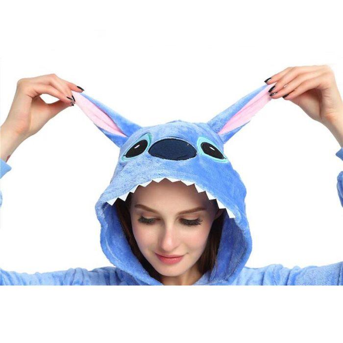 New Winter Women Men Unisex Adult Cute Cartoon Onesie Animal Pajamas unicornio Unicorn Stitch Kigurumi Flannel Nightie Sleepwear 3